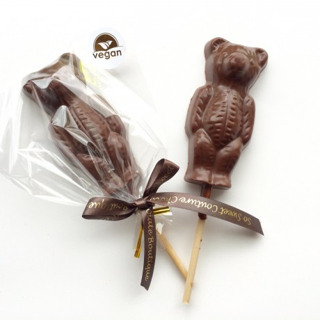 Three Dairy Free Alternative to Milk Chocolate Teddy Lollies