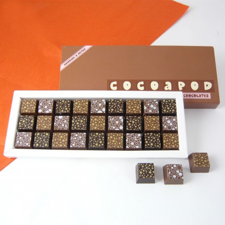 Mosaic Box of Coffee, Dark and Milk Chocolates