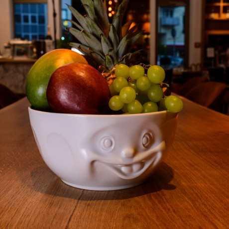 Big White Porcelain Bowl with fruit