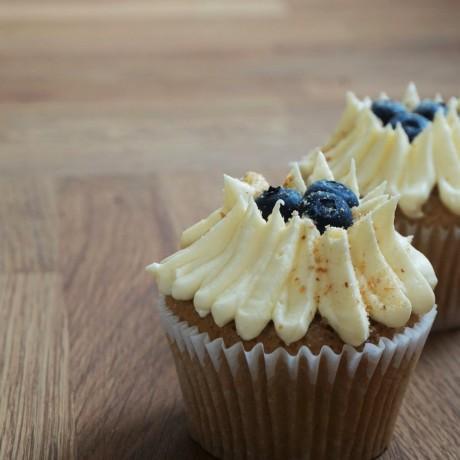 Blueberry Vanilla Cupcake
