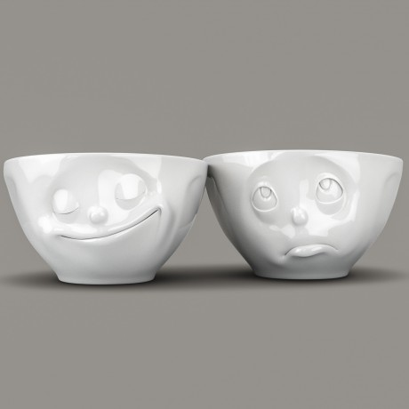 Set of 2 white porcelain bowls each 200ml