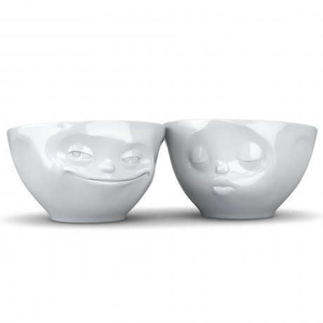 Two 200ml Porcelain bowls to make you smile