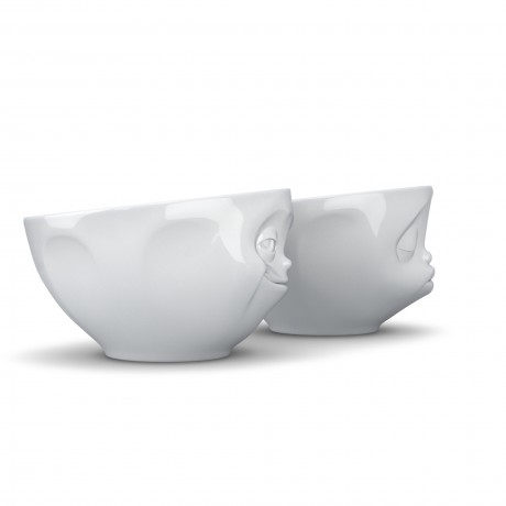 Side view of 'Kissing' and 'Grinning' 200ml bowls