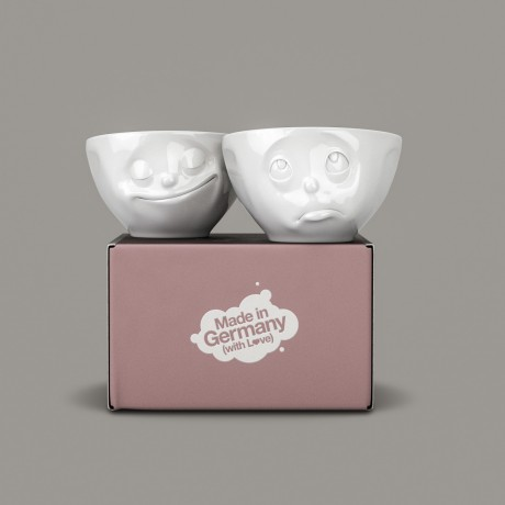 'Oh Please' and 'Happy' 200ml bowls with their gift box
