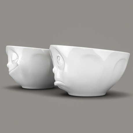 Side view of 'Oh Please' and 'Happy' 200ml bowls