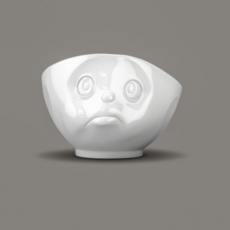 'Sulking' Porcelain Bowl front view