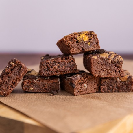 Unwrapped Brownies- Close