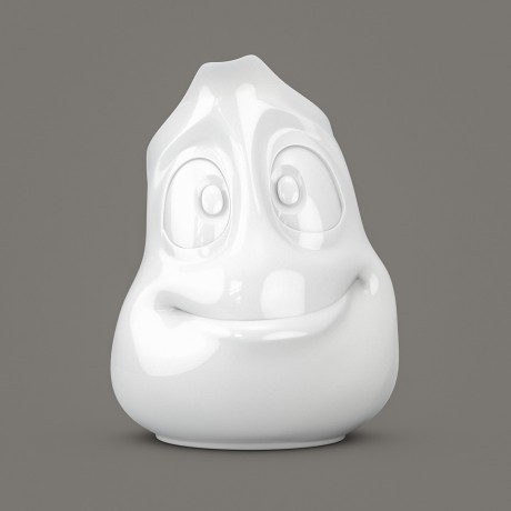White porcelain jug with a 'Jolly' face