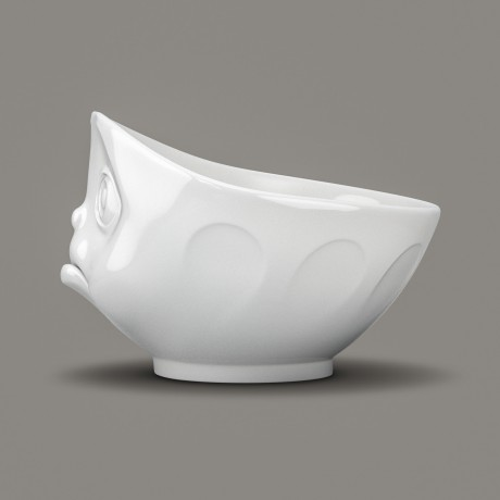 White Porcelain sulking Bowl side view by Tassen at Lovely Lane Gifts