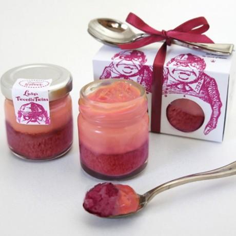 Tweedle Twins Berry Velvet Cake in a Jar