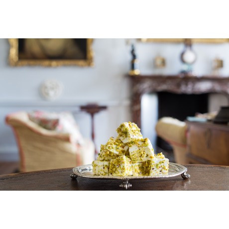 Pistachio and White Chocolate Marshmallow Favours
