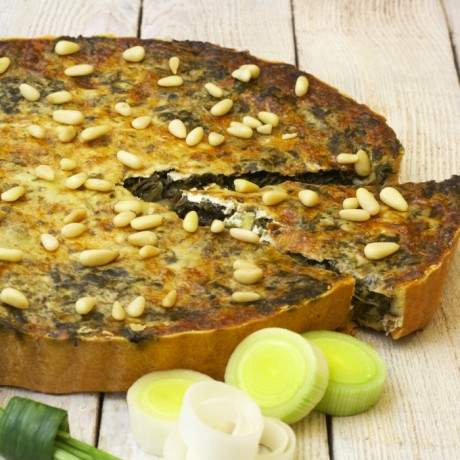Spinach and Leek Flan (Gluten & Dairy Free)