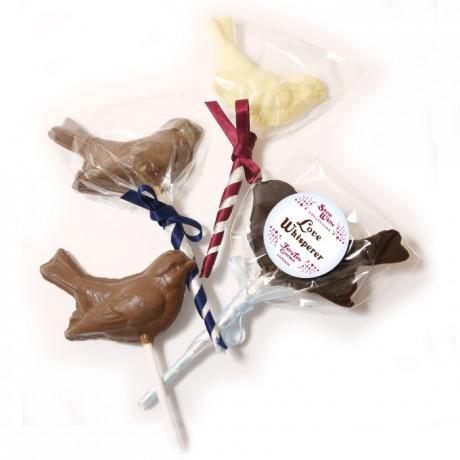 Love Whisperer Chocolate Birds Lollipop
