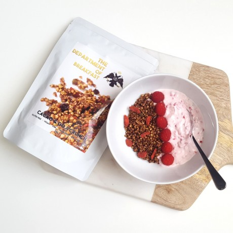 Cacao and Goji Crunch Granola Raw Yoghurt