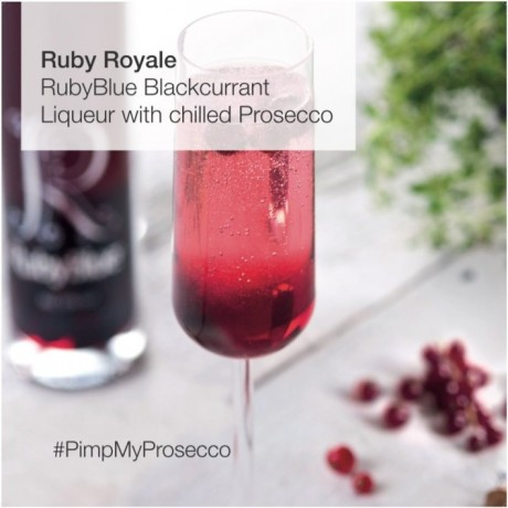 Kir Royal with RubyBlue Blackcurrant