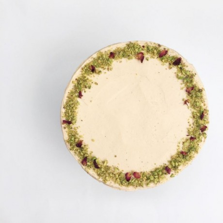 Gluten-free Vanilla and Pistachio Celebration Cake