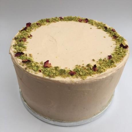 Gluten-free Vanilla and Pistachio Celebration Cake