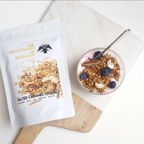 Salted Caramel Crumble Granola with Yoghurt