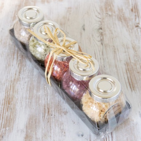5 jars wrapped