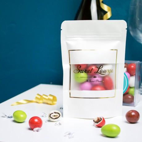 Celebration Mix - White and Dark Chocolate Covered Toritto Almonds and Piemonte Hazelnuts