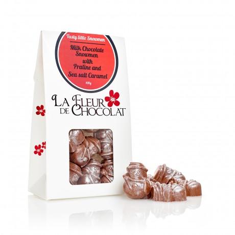 Milk Chocolate Caramel and Praline Snowman