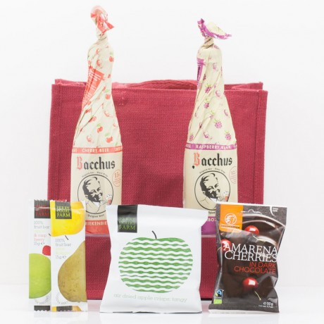Craft Fruit Beer & Snacks Gift Bag from Natures Hampers