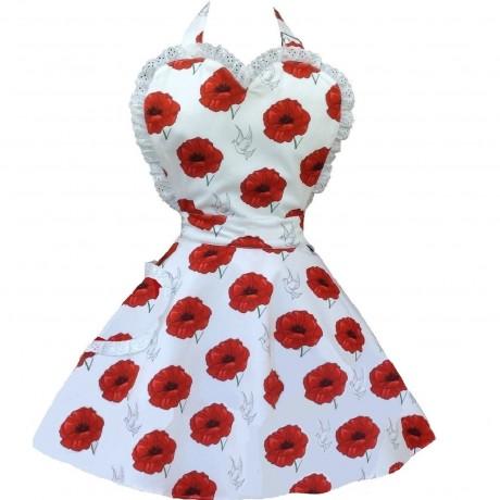 Poppies Apron
