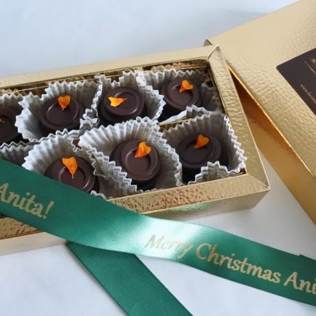 Personalised Luxury Organic Orange Chocolate Box (Soya & Gluten Free)