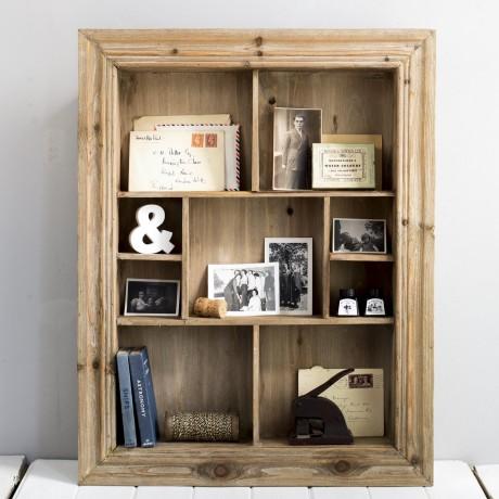 Wooden Multi Shelf Wall Unit