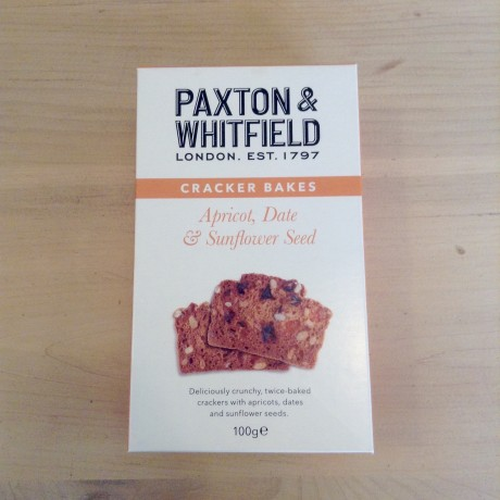 Paxton and Whitfield Apricot, Date and Sunflower toasts - sweet, crunchy, their toothsome texture makes it hard to believe they are Gluten Free!