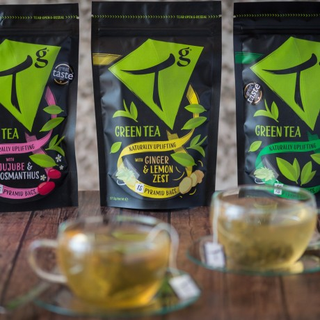 Tg Organic Green Tea with Jujube and Osmanthus pouch (15 tea bags)