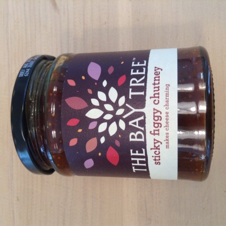 The Bay Tree Company favourite Sticky Figgy Chutney, studded with crunchy fig seeds and laced with sweet caramelised onions, great with all of our cheeses!