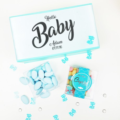 Personalised 'Baby Boy' Baby Shower or Christening Gift. Gluten-free & Vegan
