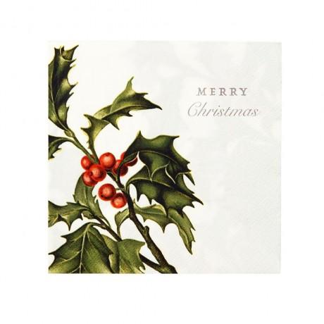 christmas napkins holly design