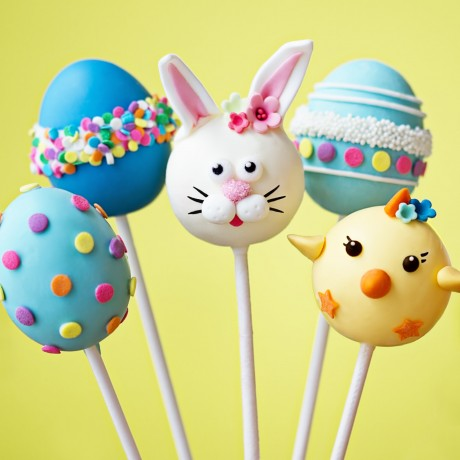 Easter Bunny, Chicks and Eggs Cake Pops