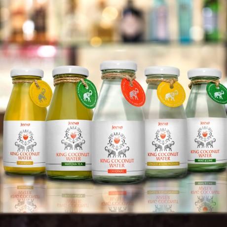 Organic King Coconut Water Selection Pack (Mint & Lime/Ginger & Lemongrass/Turmeric & Matcha)