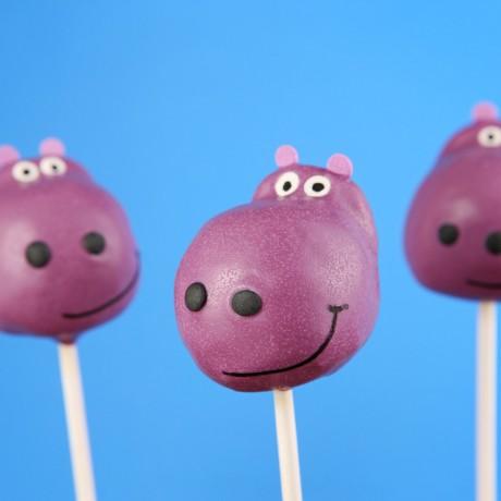 Hippo Cake Pops