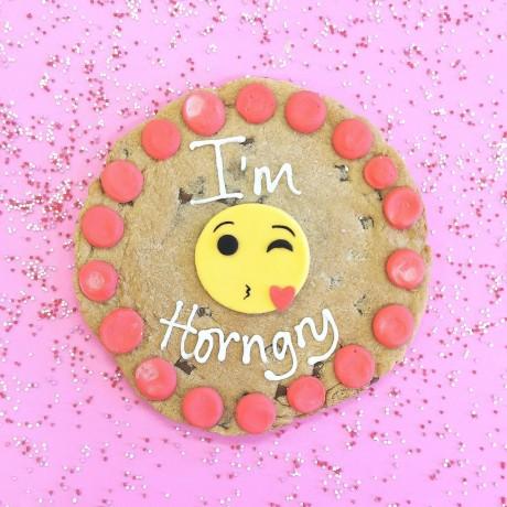 Kissing Emoji Personalised Valentine Cookie