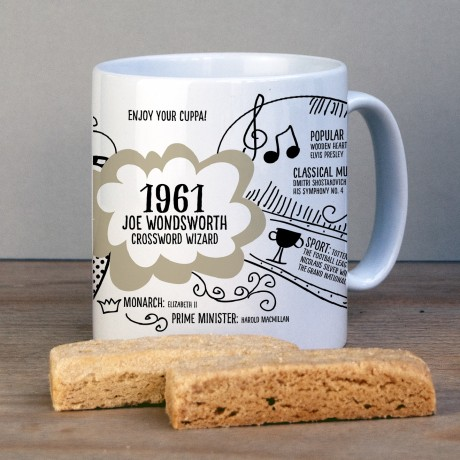 60th birthday Mug 1961
