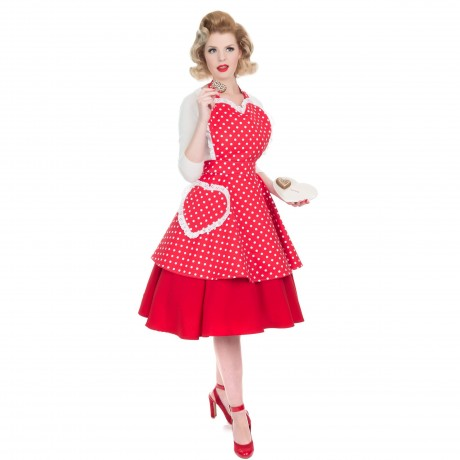 Deliciously Dotty Retro Red