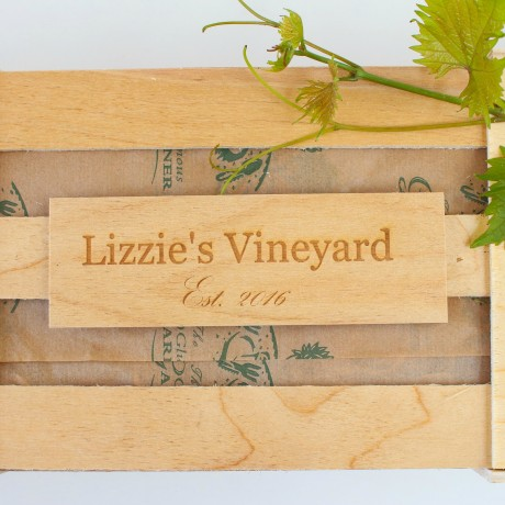 Personalised crate plaque