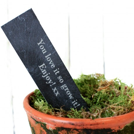 Personalised slate stake