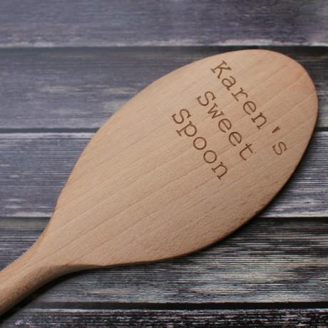 Personalised wooded spoon