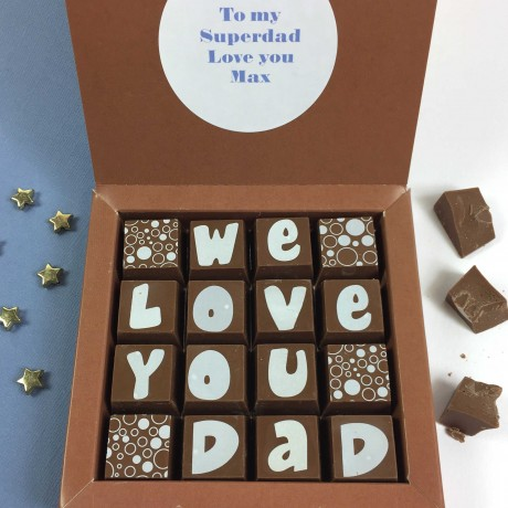 Personalised Message Chocolates for DAD