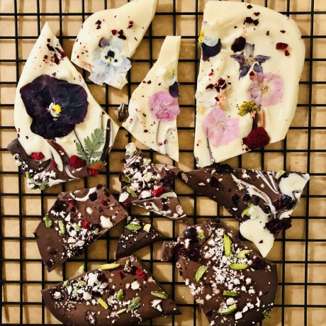 Floral Wild Berry Chocolate Slate