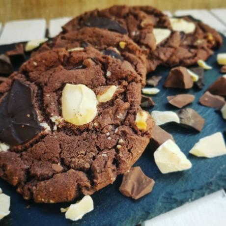 Triple Chocolate Chunk Cookies Box