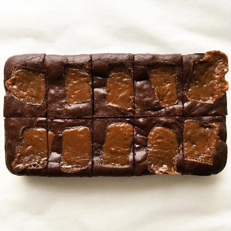 Sea Salted Butterscotch Brownies – Serves 10 (Gluten Free)