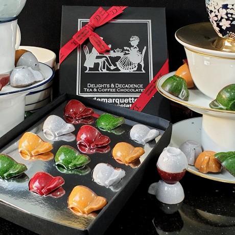 Delights & Decadence (Tea & Coffee Chocolate Caramel Cups)