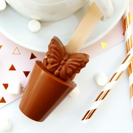 Set of 3 Butterfly Hot Chocolate Stirrers