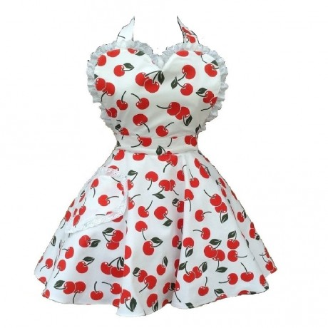 Cherry Bakes Well Sweetheart Apron